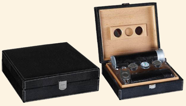 The Alligator Humidor 25 Ct. .. Black